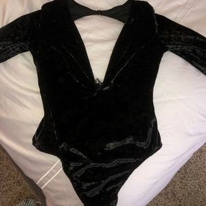 Victoria's Secret Tops - Victoria's Secret Velvet Bodysuit